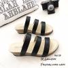 พร้อมส่ง รองเท้าแตะแบบสวม หนังคาด 3 สาย 961-59-ดำ [สีดำ]