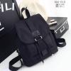 พร้อมส่ง กระเป๋าเป้ผู้หญิงผ้าไนล่อน-BAG-013 [สีดำ]