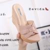 พร้อมส่ง รองเท้าส้นเตารีด สไตล์แบรนด์ดัง 17-2285-ชมพู [สีชมพู]