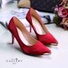 พร้อมส่ง รองเท้าคัชชูปิดหัว G5-117C5-RED [สีแดง]