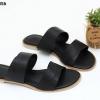 พร้อมส่ง รองเท้าแตะแบบสวม SB07-356-BLK [สีดำ]