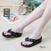พร้อมส่ง รองเท้าแตะเพื่อสุขภาพ สไตล์ฟิตฟอป L2927C2-BLK [สีดำ]