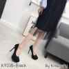 พร้อมส่ง รองเท้าคัชชูงานเกาหลี K9318D2-BLK [สีดำ]
