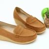 พร้อมส่ง รองเท้าเพื่อสุขภาพ J215-BRN [สีน้ำตาล]