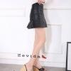 พร้อมส่ง รองเท้าส้นเตารีด สไตล์เกาหลี zevida 17-2285-BLK [สีดำ]