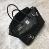 พร้อมส่ง กระเป๋าสะพายข้างผู้หญิง Birkin Pu 30 cm หนังยับ [สีดำ]
