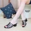 พร้อมส่ง รองเท้าส้นเตี้ยสวม MX4036-BLK [สีดำ]
