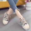 พร้อมส่ง รองเท้าใบลายกราฟฟิก ST203-BLK [สีดำ]