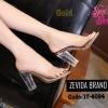 พร้อมส่ง รองเท้าส้นสูง ส้นแก้ว 17-4094-GLD [สีทอง]