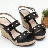 พร้อมส่ง รองเท้าส้นเตารีดรัดท้าย 13-61-BLK [สีดำ]