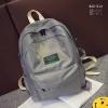 พร้อมส่ง กระเป๋าเป้ผู้หญิงผ้าไนล่อนสีสดใส-BAG-014 [สีเทา]