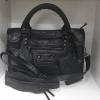 พร้อมส่ง กระเป๋าสะพายข้างผู้หญิง Big city bag [สีดำ-เงิน]