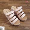 พร้อมส่ง รองเท้าสวมลำลองส้นเตารีด 981-70-CRM [สีครีม]