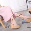 พร้อมส่ง รองเท้าส้นเตารีด สไตล์เกาหลี zevida 17-2285-PNK [สีชมพู]