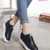 พร้อมส่ง รองเท้าผ้าใบแบบสวม ST1701-BLK [สีดำ]