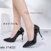 พร้อมส่ง รองเท้าคัทชูส้นสูง สไตล์เกาหลี 17-8222D5-BLK [สีดำ]