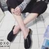 พร้อมส่ง รองเท้าแตะงานสวม หน้าตัด G-1190-BLK [สีดำ]