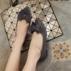 พร้อมส่ง รองเท้าคัทชูส้นแบน โบซ้อน G-1158-GRY [สีเทา]