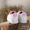 พร้อมส่ง ผ้าใบ ขอบสี แต่งปักรูปหัวใจ G-1307-PNK [สีชมพู]