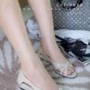 พร้อมส่ง รองเท้าส้นเตี้ย C02-042A-APR [สีแอปริคอท]