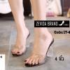 พร้อมส่ง รองเท้าส้นสูง ส้นแก้ว 17-4094-BLK [สีดำ]