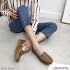 พร้อมส่ง รองเท้าคัทชูส้นเตี้ย N0119D4-BWN [สีน้ำตาล]