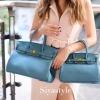 พร้อมส่ง กระเป๋าสะพายข้างผู้หญิง Birkin PU 25 cm [สีน้ำเงินเข้ม]