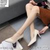 พร้อมส่ง รองเท้าคัชชูผู้หญิง หนังลายวัว K9080-CRM [สีครีม]