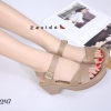 พร้อมส่ง รองเท้าแตะรัดส้น สไตล์เกาหลี 17-9247B4-CREAM [สีครีม]