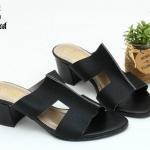 พร้อมส่ง รองเท้าแตะแบบสวม สไตล์แบรนด์ดัง 26-32-BLK [สีดำ]