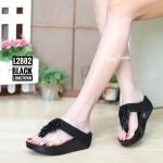 พร้อมส่ง รองเท้าแตะเพื่อสุขภาพ สไตล์ฟิตฟอป L2882A1-BLK [สีดำ]