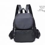 พร้อมส่ง กระเป๋าเป้ผ้าไนล่อนสไตล์ญี่ปุ่น-1021 [สีดำ]