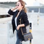 พร้อมส่ง กระเป๋าสะพายข้างผู้หญิง New CN BOY 10นิ้ว [สีดำ]