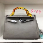 พร้อมส่ง กระเป๋าสะพายข้างผู้หญิง Kelly 32 cm [สีเทา ]