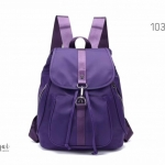 พร้อมส่ง กระเป๋าเป้ผู้หญิงผ้าไนล่อน-1038 [สีม่วง]