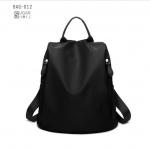 พร้อมส่ง กระเป๋าเป้ผ้าไนล่อน-BAG-012 [สีดำ]