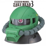 GACHAPON EXCEED MODEL ZAKU HEAD 3 กาชาปองซาคุ 3 สีเขียว