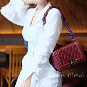 กระเป๋าสะพายแฟชั่น กระเป๋าสะพายข้างผู้หญิง CN RAINBOW 10 Inch [สีแดง]