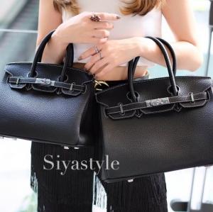 พร้อมส่ง กระเป๋าสะพายข้างผู้หญิง BK super 30 cm [สีดำ]