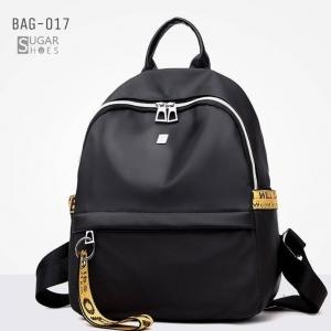 พร้อมส่ง กระเป๋าเป้ไนล่อน-BAG-017 [สีดำ/เหลือง]