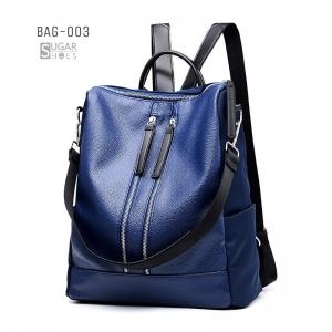 พร้อมส่ง เป้หนังผู้หญิง-BAG-003 [สีน้ำเงิน]