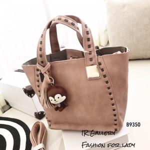 กระเป๋าสะพายแฟชั่น กระเป๋าสะพายข้างผู้หญิง นังนิ่มคุณภาพพรีเมี่ยมงานสวยเหมือนหนังแท้ ดีไซน์สไตล์เกาหลี ไซส์ M [สีชมพู ]
