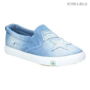 พร้อมส่ง รองเท้าผ้าใบแฟชั่น K156-LBLU [สีฟ้า]