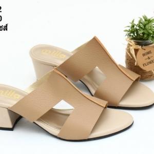 พร้อมส่ง รองเท้าแตะแบบสวม สไตล์แบรนด์ดัง 26-32-KHA [สีกากี]