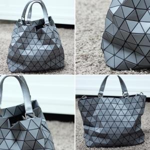 กระเป๋าสะพายแฟชั่น กระเป๋าสะพายข้างผู้หญิง Bao Bao Baral ทรงถัง [สีเทา ]