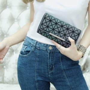 กระเป๋าตัง กระเป๋าเงินผู้หญิง งานปั้มLOGO baobao style แบบฝาพับ [สีรุ้ง ]