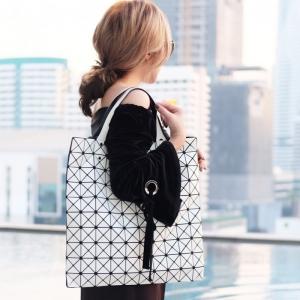 กระเป๋าสะพายแฟชั่น กระเป๋าสะพายข้างผู้หญิง Bao Bao 10*10 NoLogo [สีขาว]