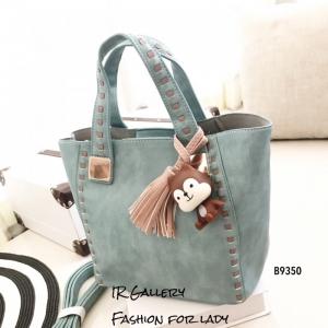 กระเป๋าสะพายแฟชั่น กระเป๋าสะพายข้างผู้หญิง นังนิ่มคุณภาพพรีเมี่ยมงานสวยเหมือนหนังแท้ ดีไซน์สไตล์เกาหลี ไซส์ M [สีฟ้า ]