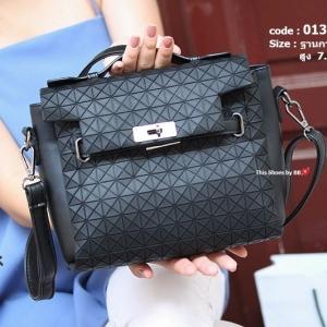 กระเป๋าสะพายแฟชั่น กระเป๋าสะพายข้างผู้หญิง สไตล์งานแบรนด์ ISSEY MIYAKE [สีดำ ]