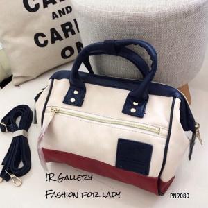กระเป๋าถือ กระเป๋าสะพายข้างผู้หญิง งานพรีเมี่ยม วัสดุหนังพียูคุณภาพดี Anello [สีทูโทน ]